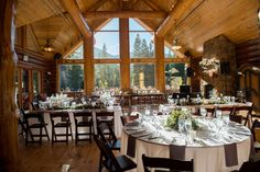 Distinctive Mountain Events Wedding / Sarah Hays Photography / Breckenridge Nordic Center Wedding / Wedding Table Layout Wedding Table Layouts, Greatest Adventure, Nordic Center, Real Weddings, Wedding Venues, Table Settings, Table Decorations, Photography, Mountain