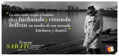Homenaje a Ernesto Sábato a 101 año de su nacimiento.
