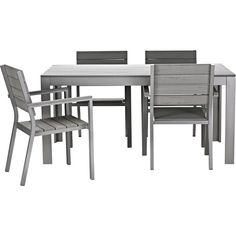 IKEA FALSTER Table and 4 armchairs gray (3 355 SEK) ? liked on  sc 1 st  Pinterest : ikea falster chaise - Sectionals, Sofas & Couches