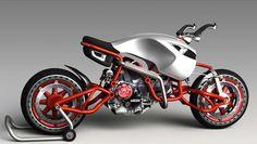 Hub centre steering and general weeeeeirdness! Concept Motorcycles, Ducati Motorcycles, Custom Motorcycles, Custom Bikes, Custom Bobber, Motorcycle Design, Motorcycle Bike, Bike Design, Futuristic Motorcycle