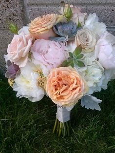 peonies, garden roses and succulents www.bloomlovely.com