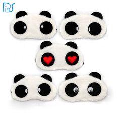 الباندا النوم العين قناع العين الظل الغمامة النوم عيون الكرتون غطاء النوم قيلولة سفر الراحة التصحيح بليندر