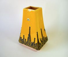 Iconic Fat Lava Vase by FOHR // Ceramic // Yellow by suninthebox, €69.00