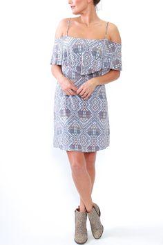 Tart Collections, Tacita Short Dress in Geo Lattice from Viva Diva Boutique