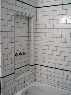 106 Best White Subway Tile Bathrooms Images Small Shower Room