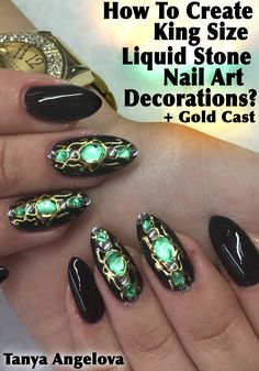 """How To Create King Size """"Liquid Stone"""" Nail Art Decorations With Gold Cast? Kindle Edition at http://www.amazon.com/gp/product/B019UAS4Y4"""