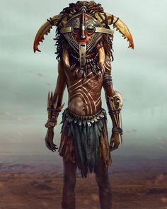 "regram @nubiamancy ""The Shaman"" illustrated by @norbface  PLEASE TAG THE ARTIST WHEN REPOSTING THIS ART ON YOUR PAGE  #africanart #african #nubiamancy #bodypaint #bodypainting #panther #darkskinned #darkskin #warrior #fantasy #fantasyart #illustration #paintings #artstagram #deviantart #jungle #africanmask #blackbeauty #blackart #behance #blackman #blackmen #shamanic #shaman #ilovefantasyart #shamanism #behance #africans"
