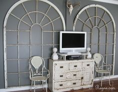 love these huge old window frames