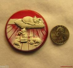 Carved Bakelite Button 4 Mice Counceling to Bell The Cat Elfrink Pin or Pendant | eBay Brads buttons are amazing