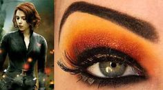 Black Widow makeup from movie The Avengers. Wanting to do this for the movie on Sunday!