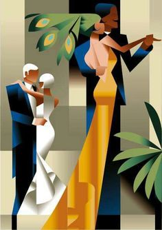Illustration inspired by Art Deco by Mads Berg. Illustration inspired by Art Deco by Mads Berg. Posters Vintage, Retro Poster, Art Deco Posters, Vintage Art, Art Deco Artwork, Art Deco Paintings, Art And Illustration, Illustrations And Posters, Arte Art Deco
