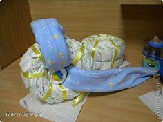 DIY Hippo on the Bike Diaper Gift Step 9
