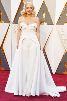 What Happens When You Pull Out All The Stops On The Red Carpet #refinery29  http://www.refinery29.com/2016/02/103017/oscars-2016-best-dressed-red-carpet-photos#slide-15  Leave it to Lady Gaga to bring a pantsuit to the red carpet — and absolutely nail it. The actress and singer had five custom dresses to choose from by her good friend and longtime stylist, Brandon Maxwell, but it was this structured top and trouser set that ultimately won Mother Monster (and us all!) over....