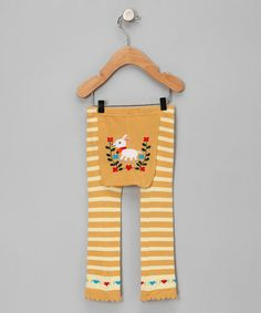 Take a look at this Yellow Stripe Goat Leggings by Doodle Pants & Sweet Potatoes on #zulily today!