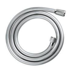 GROHE Flexible de douche Relexaflex 1500 - m - Gris argente Shower Rod, Shower Faucet, Wax Ring, Metal Hose, Kitchen Pulls, Wall Mounted Toilet, Rainfall Shower, Toilet Bowl, Chrome Finish