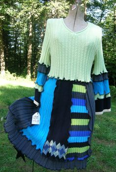 Upcycled Sweater Dress by cbcreativeoutlet on Etsy, $85.00