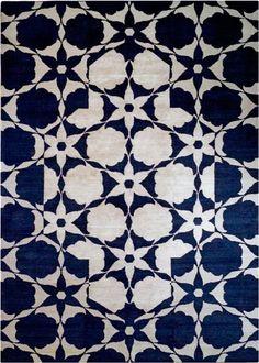 Indigo cut-out style rug by Vanderhurd