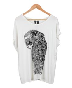 Hand Painted Parrot T-shirt