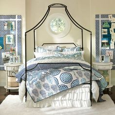 Maison Canopy Bed (PBteen)... cheaper version of the Anthropologie bed I have wanted forever...