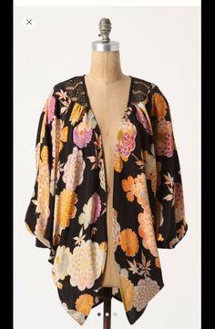 3b4041f3a3 Anthropologie Corey Lynn Calter Dahlia Lace Crop Kimono One Size  58