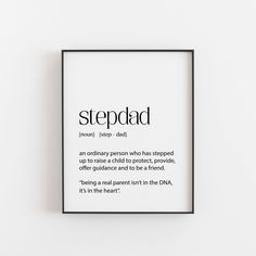 Stepdad Someone Special To Be A Stepdad On Upcycled Vintage Dictionary Page