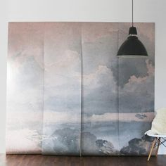 Majestic clouded sky wall mural wall paper Self adhesive wallpaper allows for paste free application and easy removal or repositioning. Traditional paste and glue method also available Vintage clouded mural comes in a matte finish