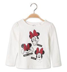 Mädchen Minnie Mouse T-Shirt in cremeweiß