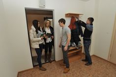 Ural Federal University students at the new dorm