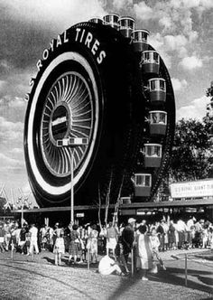 This enormous tire was used as a Ferris wheel at the 1964-1965 World's Fair before being moved back to Allen Park, Mich.