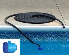 The Beluga solar pool heater heats your pool with just an ordinary garden hose. Just attach a garden hose to the Beluga, then lay the hose in the sun, and place the other end in the pool.