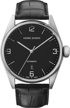 Georg Jensen Watch Delta Classic Pre-Order #basel-15 #bezel-fixed #case-depth-12mm #case-material-steel #case-width-42mm #date-yes #delivery-timescale-call-us #dial-colour-black #gender-mens #luxury #movement-automatic #new-product-yes #packaging-georg-jensen-watch-packaging #pre-order #pre-order-date-30-09-2015 #preorder-september #style-dress #subcat-delta #supplier-model-no-3575592 #warranty-georg-jensen-official-2-year-guarantee #water-resistant-100m