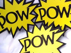 Superhero Photobooth props
