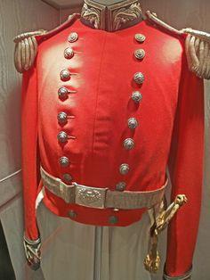 Dumbartonshire Rifle volunteers Officers uniform. Photo taken at the museum, Dumbarton Castle.
