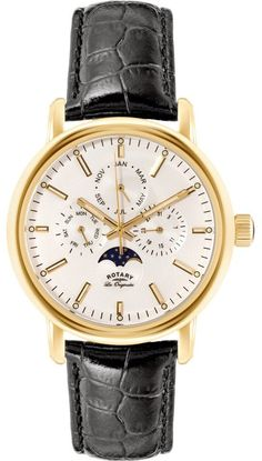 Rotary Watch Les Originales Gents #add-content #bezel-fixed #bracelet-strap-leather #brand-rotary #case-material-yellow-gold #case-width-40mm #classic #date-yes #day-yes #delivery-timescale-1-2-weeks #dial-colour-white #gender-mens #moon-phase-yes #movement-quartz-battery #official-stockist-for-rotary-watches #packaging-rotary-watch-packaging #perpetual-calendar-yes #style-dress #subcat-les-originales #supplier-model-no-gs90136-02 #warranty-rotary-official-lifetime-guarantee…