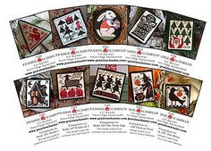 10 Mini-Card Set Collection E : cross stitch patterns Prairie Schooler Halloween Christmas Santa Claus Easter Bunny Witch hand embroidery