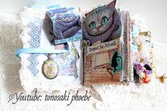 Alice in wonderland junk journal  YT: https://youtu.be/Pyr2F4xFyDU
