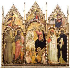 Giovanni dal Ponte - Polittico dell'incoronazione della Vergine e santi - tempera e oro su tavola - 1420-1430 circa - Galleria dell'Accademia a Firenze.