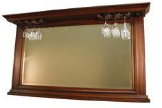 kokomo back bar mirror w display shelf home decor. Black Bedroom Furniture Sets. Home Design Ideas