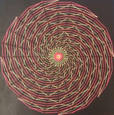 Spiral Blacklight Stringart by String-Art