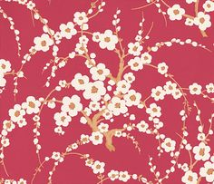 Lori Cranberry wallpaper by Laura Ashley