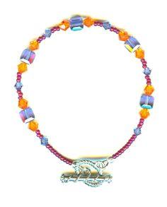 Hand Crafted Swarovski Crystals Tropical Cube Bracelet