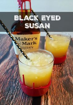Black Eyed Susan Cocktail for the Preakness Stakes Liquor Drinks, Bourbon Drinks, Whiskey Cocktails, Cocktail Drinks, Cocktail Recipes, Alcoholic Drinks, Drinks With Whiskey, Summer Bourbon Cocktails, Amaretto Drinks