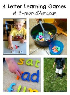 4 Alphabet Letter Learning Games at B-InspiredMama.com.