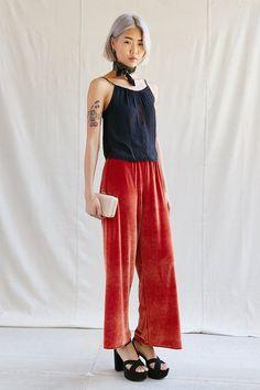 Urban Renewal Remade Wide Leg Velvet Pant