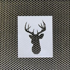 Reusable stencil of a deer head on Etsy