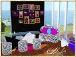 Sarari Living    Chair+Diningtable+Couchtable+Sofa+Pictures+Rug by Abuk0 http://www.allaboutsims.net/wbb3/index.php?page=Thread&postID=73211#post73211