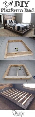 Easy DIY Plataform Bed #Home #Garden #Trusper #Tip