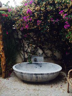 Bath in open air, Ibiza