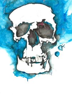 Print of Watercolor Skull by cankerbloom on Etsy #skull