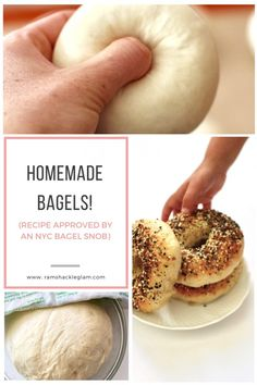 How To Make New York City-Style Homemade Bagels - Ramshackle Glam - bread recipes homemade Plats Healthy, Homemade Bagels, Homemade Food, Easy Homemade Bread, Homemade Sandwich Bread, Homemade Hamburger Buns, Hamburger Bun Recipe, Homemade Croissants, Homemade Soft Pretzels